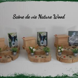 Urne Reliquaire SCENE DE VIE NATURE WOOD